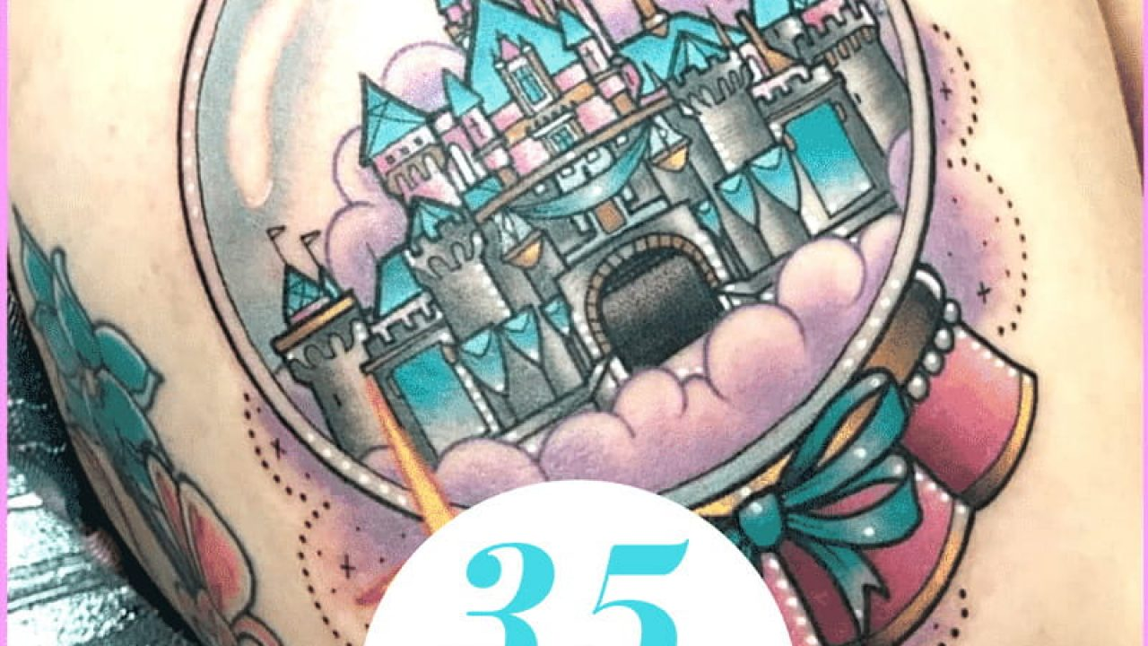 Disney Castle Tattoos - 35 Charming Collections | Design Press