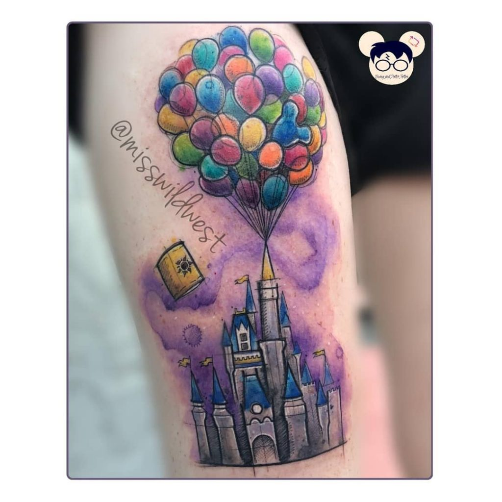 Adventure is out there Disney Castle Tattoos