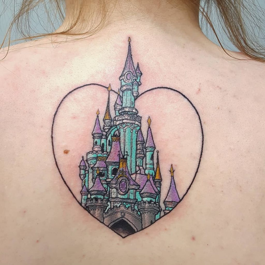 Disney Castle Back Tattoo