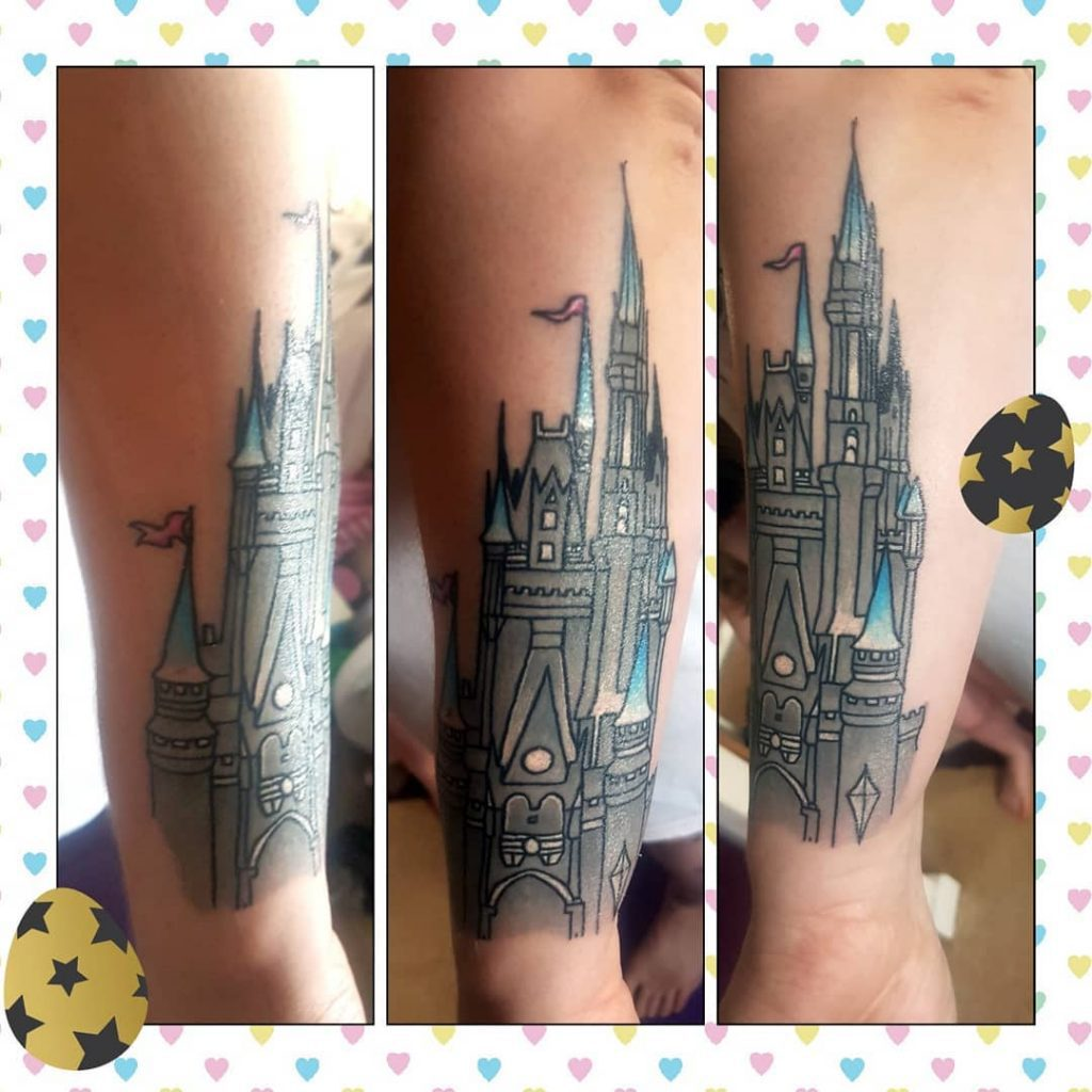 Disney Castle Sleeve Tattoo Disney Castle Tattoos