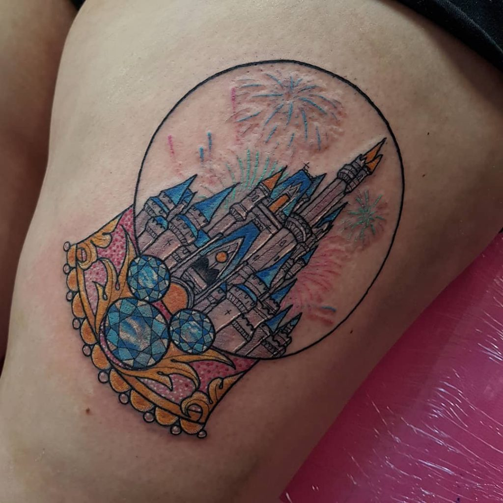 Disney Castle Snow Globe Disney Castle Tattoos