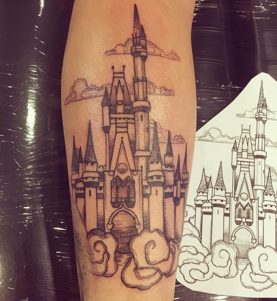 Disney Land Disney Castle Tattoos