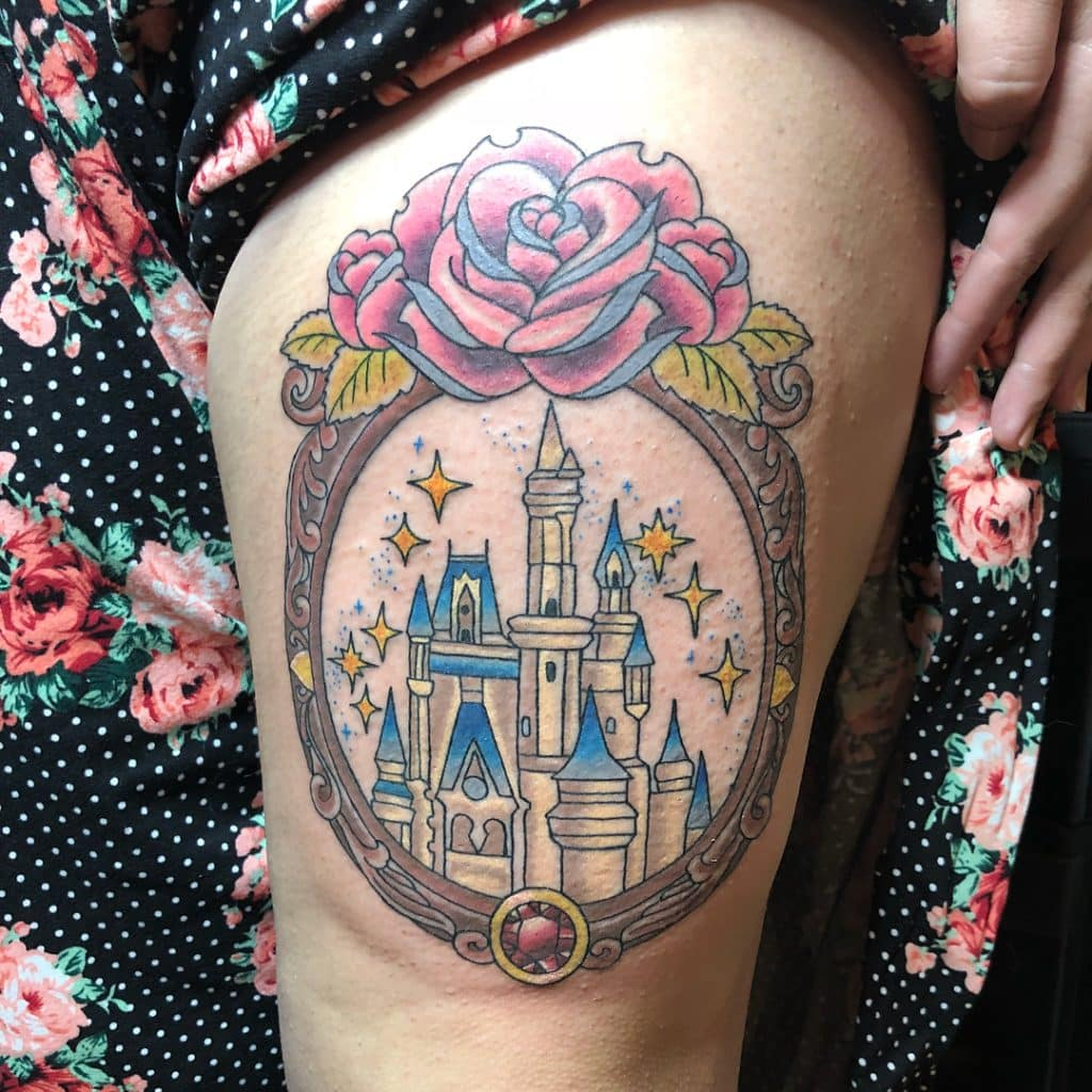 Elegant Disney Castle Tattoos
