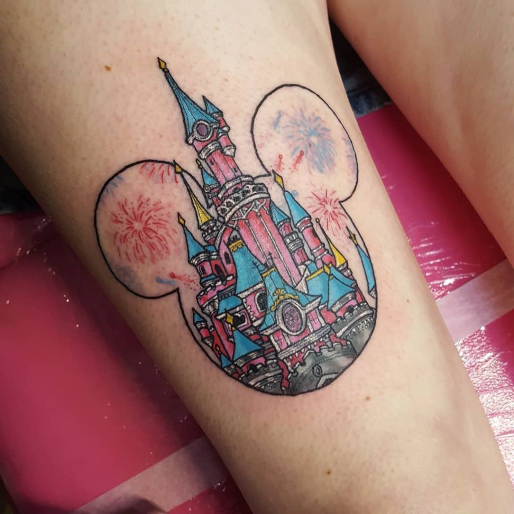 Mickey's Disney Castle Tattoos