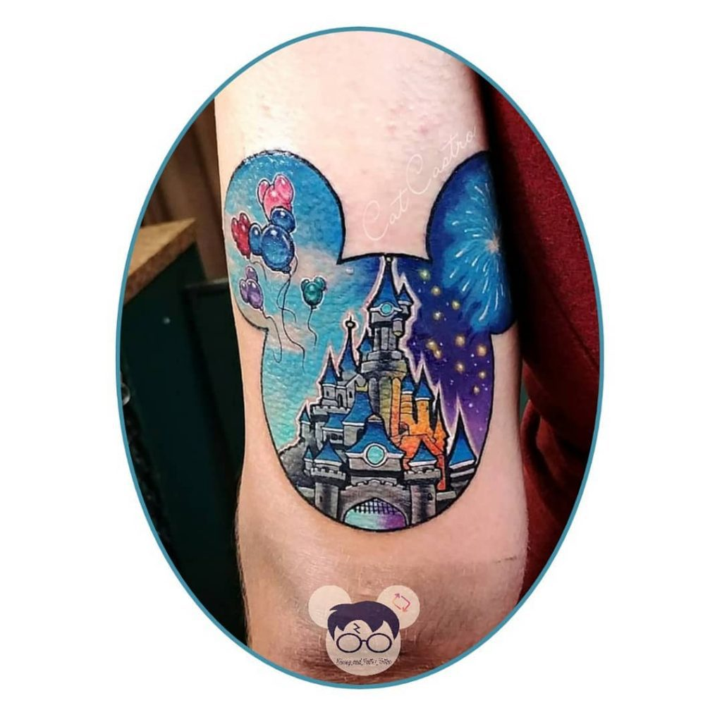 stunning Disney fireworks and castle disney castle tattoos