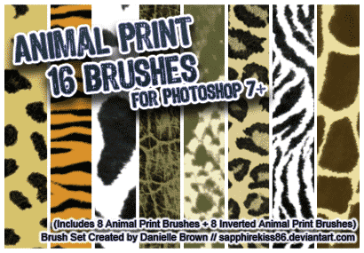 Animal Print Brushes free photoshop brushes
