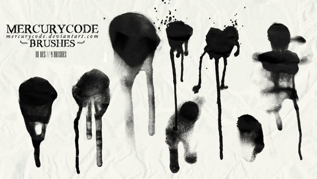 Blood Brush Set free photoshop brushes
