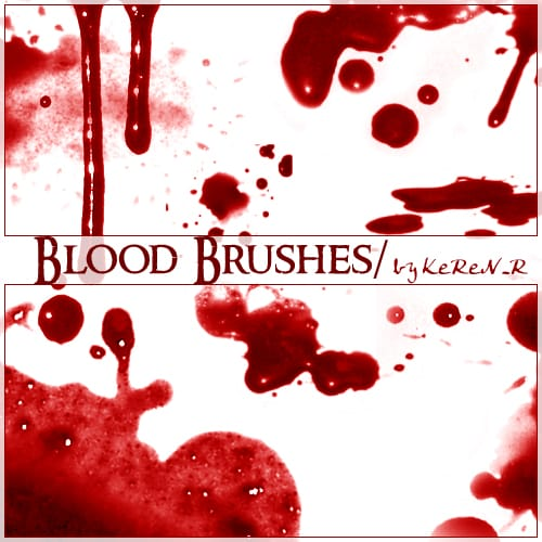 Bloody Brushes free photoshop brushes