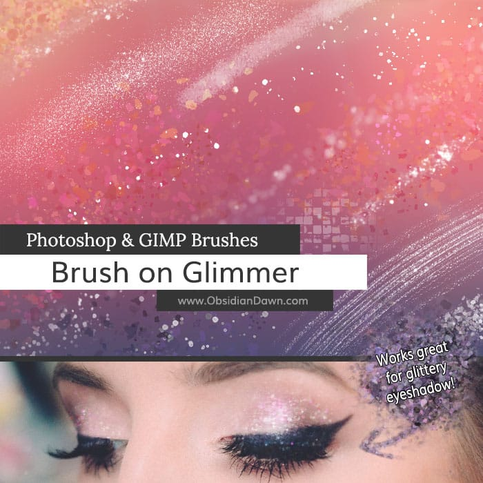 Brush On Glimmer free photoshop brushes