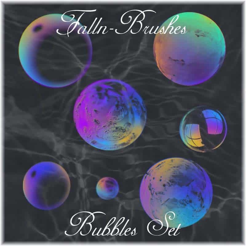 Bubbles Set free photoshop brushes