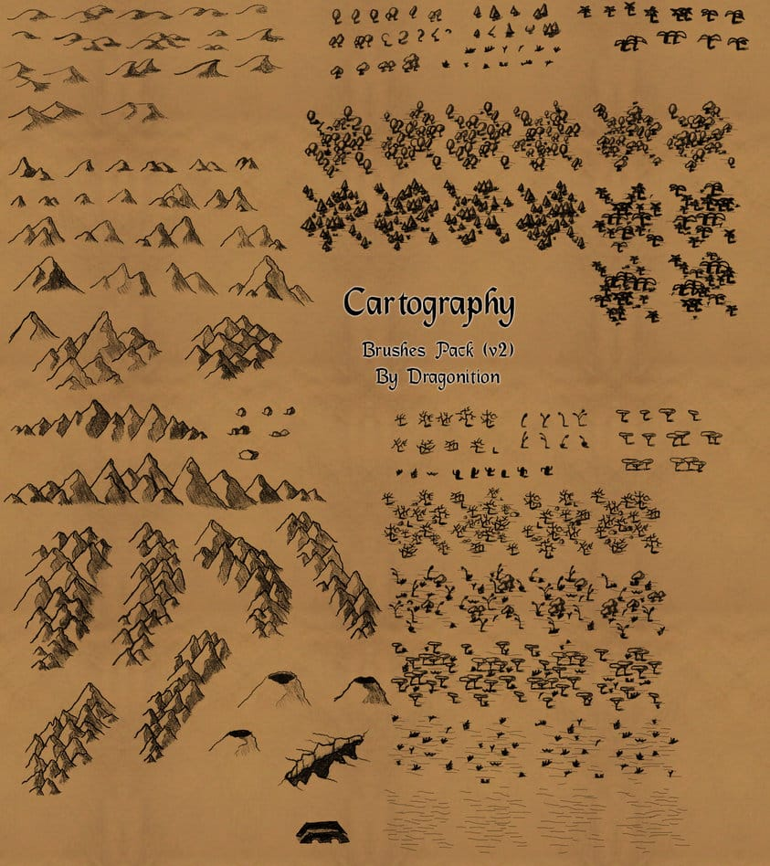 Cartography Brushes free photoshop brushes