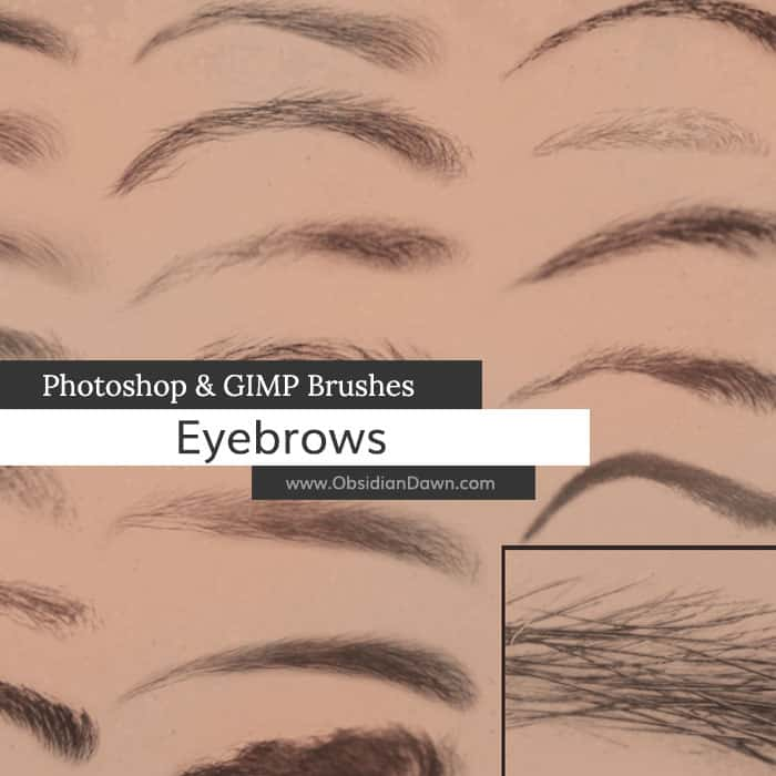 Eyebrows Brushes free photoshop brushes
