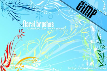 Floral Brushes free photoshop brushes