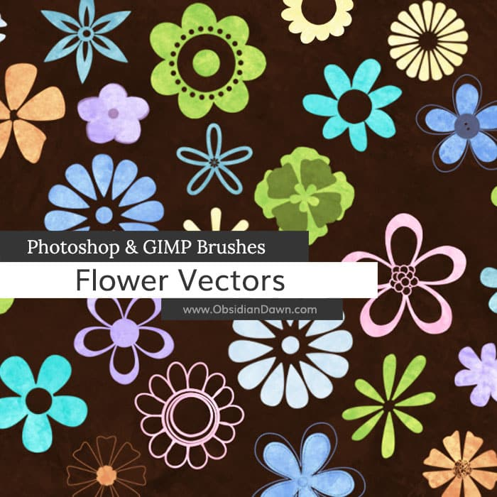 Flower Vectors Brushes free photoshop brushes