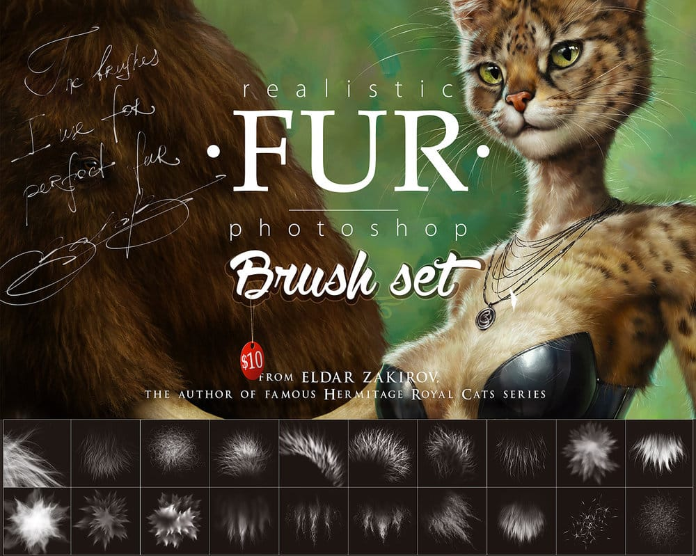 Fur Brush Set free photoshop brushes