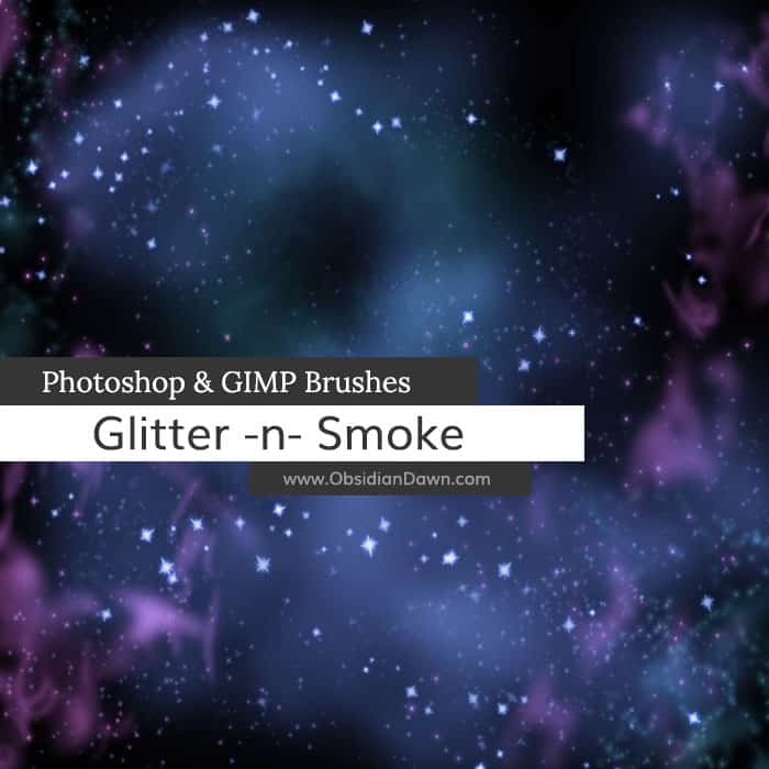 Glitter N' Smoke Brushes free photoshop brushes