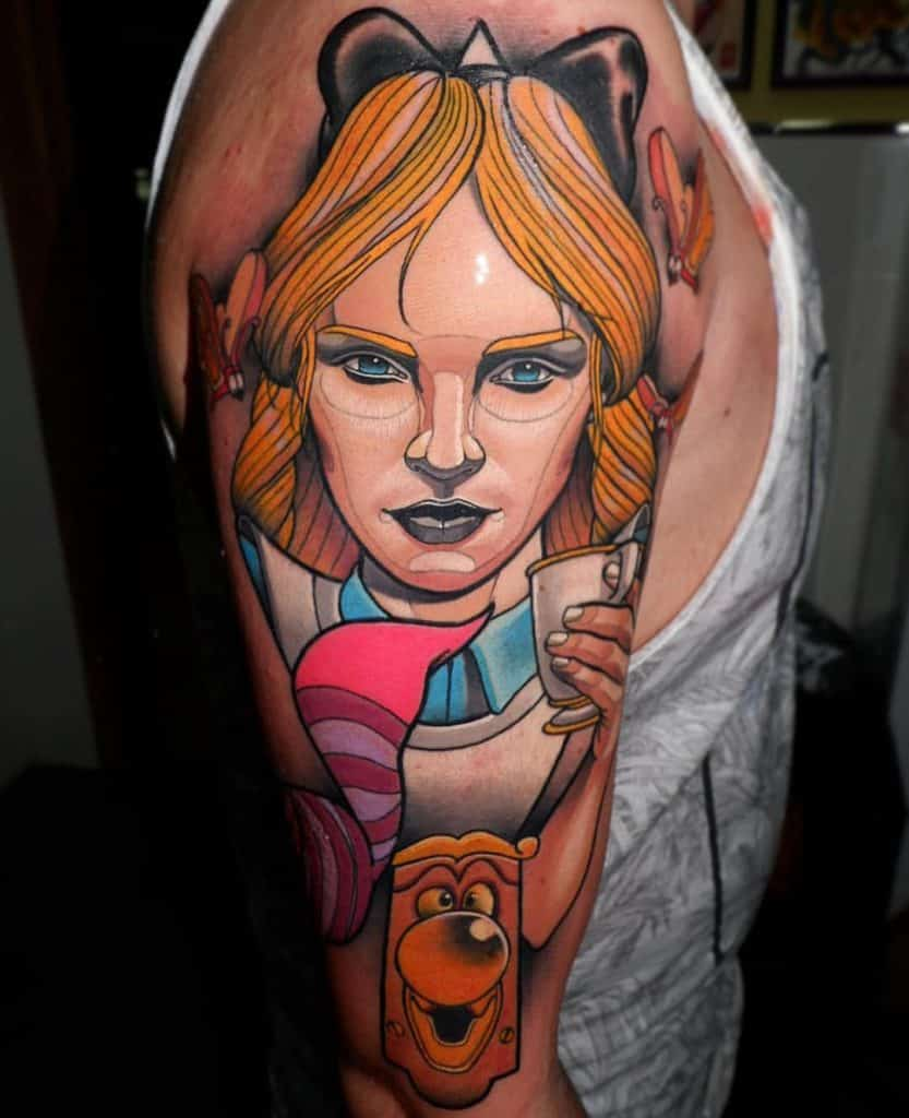 Grown Up Alice in Wonderland Tattoos