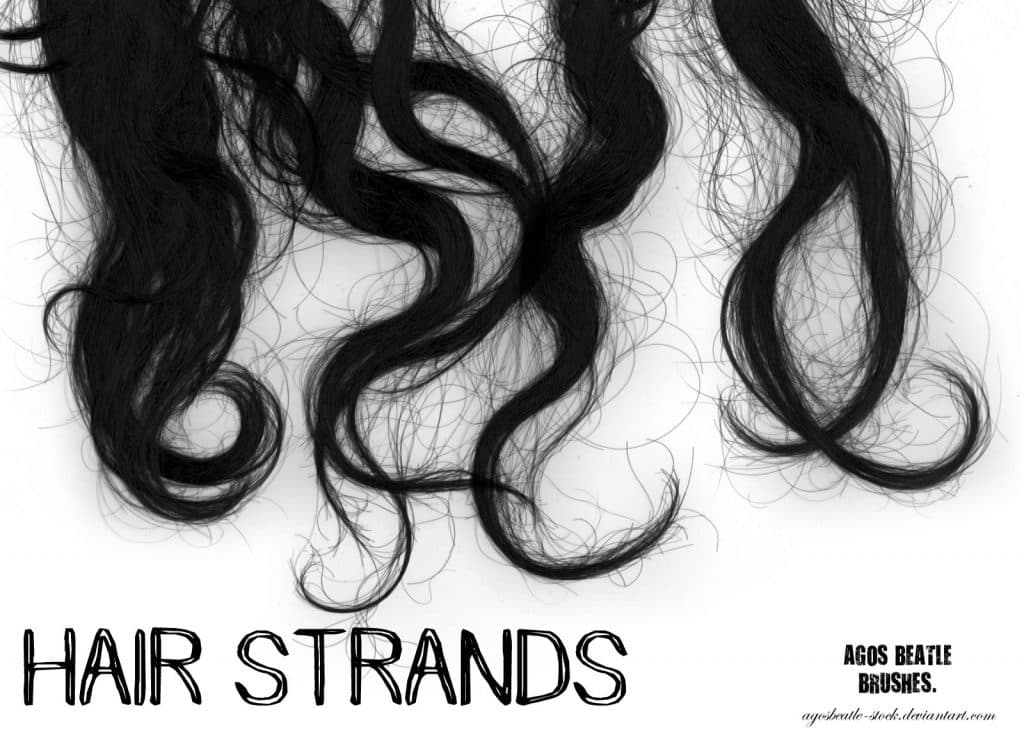 Hair strands free photoshop brushes