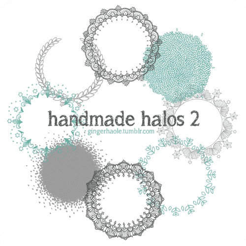 Handmade Halos Brush Set free photoshop brushes