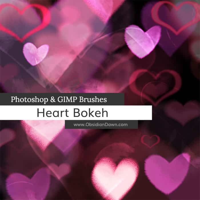 Heart Bokeh free photoshop brushes