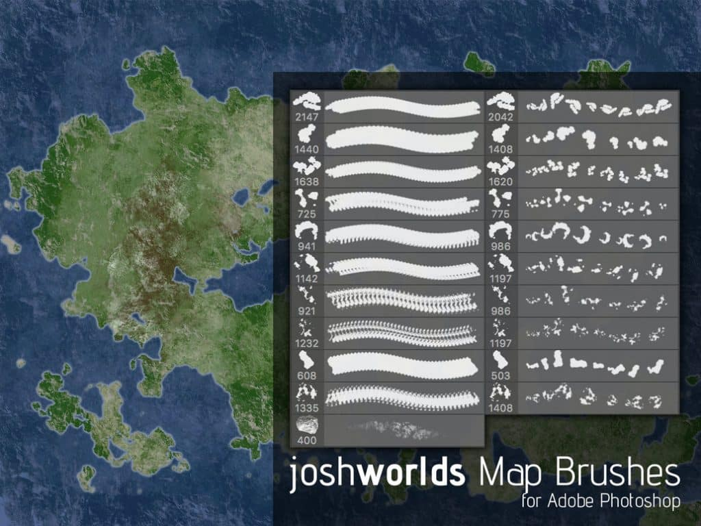 Map Brushes free photoshop brushes