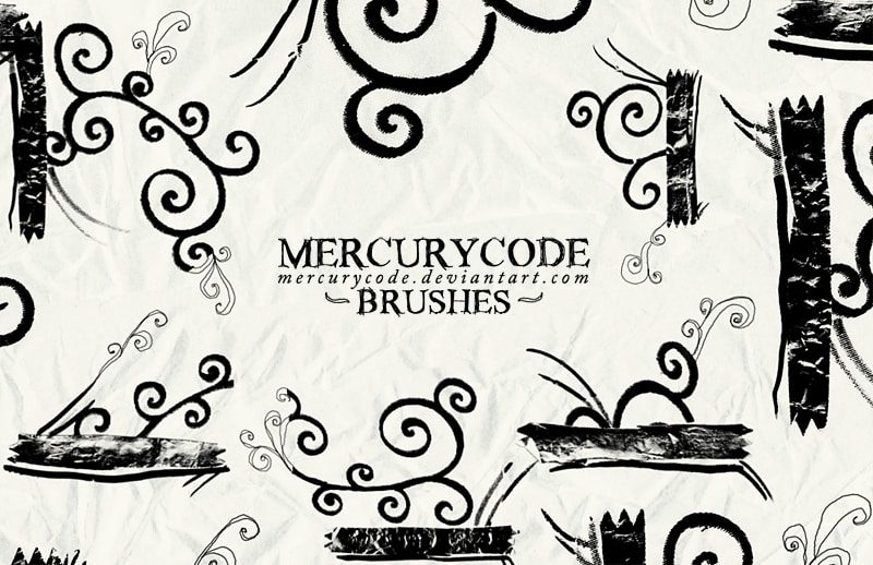 Mercurycode Brushes free photoshop brushes