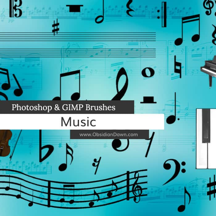 Music Brushes free photoshop brushes