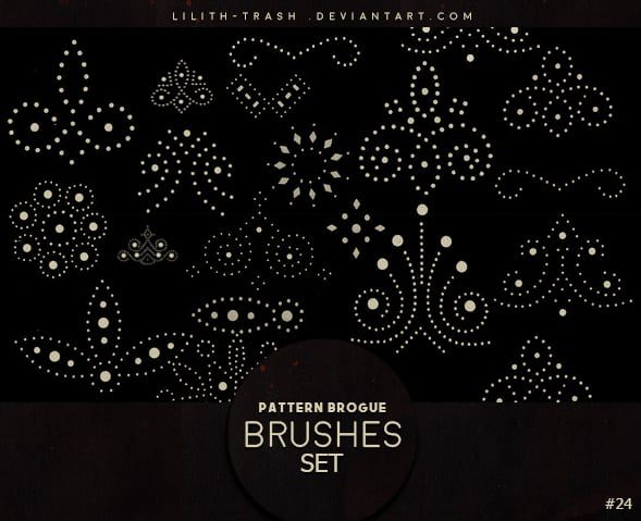 Pattern Brogue Brushes Set free photoshop brushes