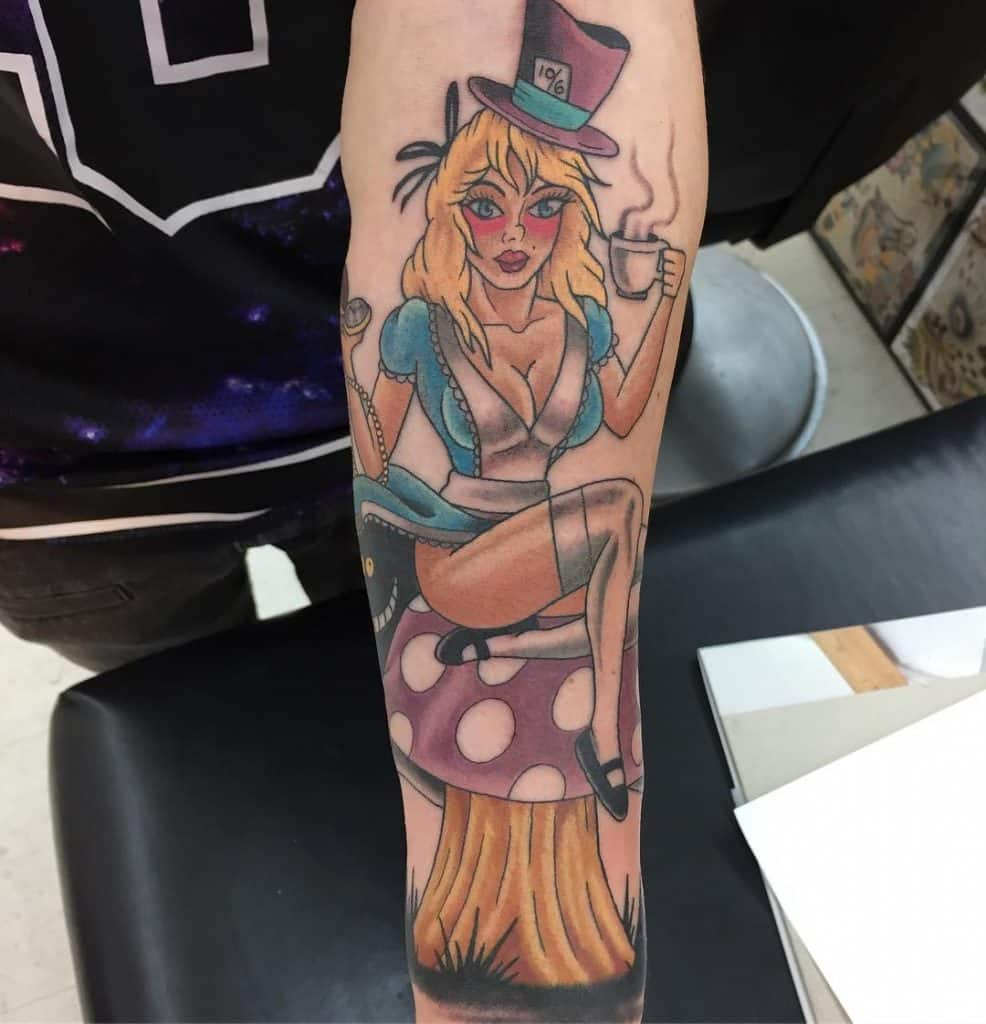 Sexy ALice in wonderland Tattoos