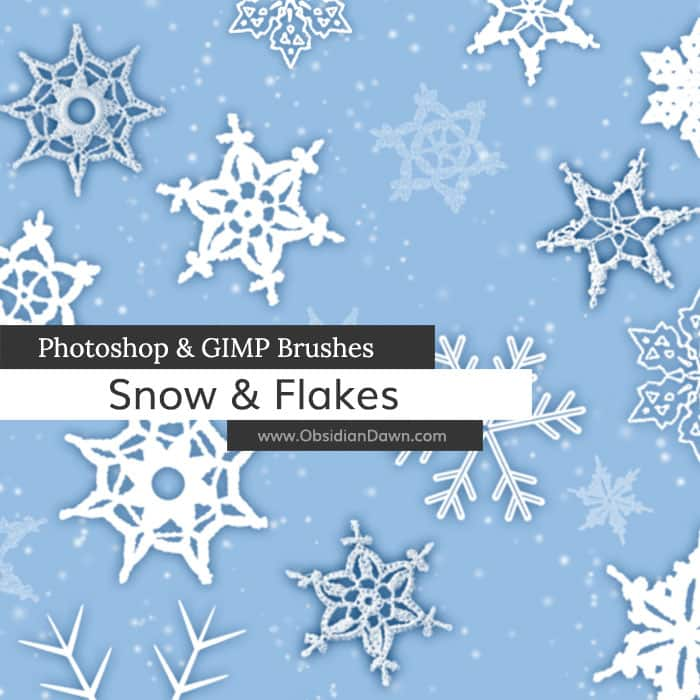 Snow & Flakes Brushes free photoshop brushes