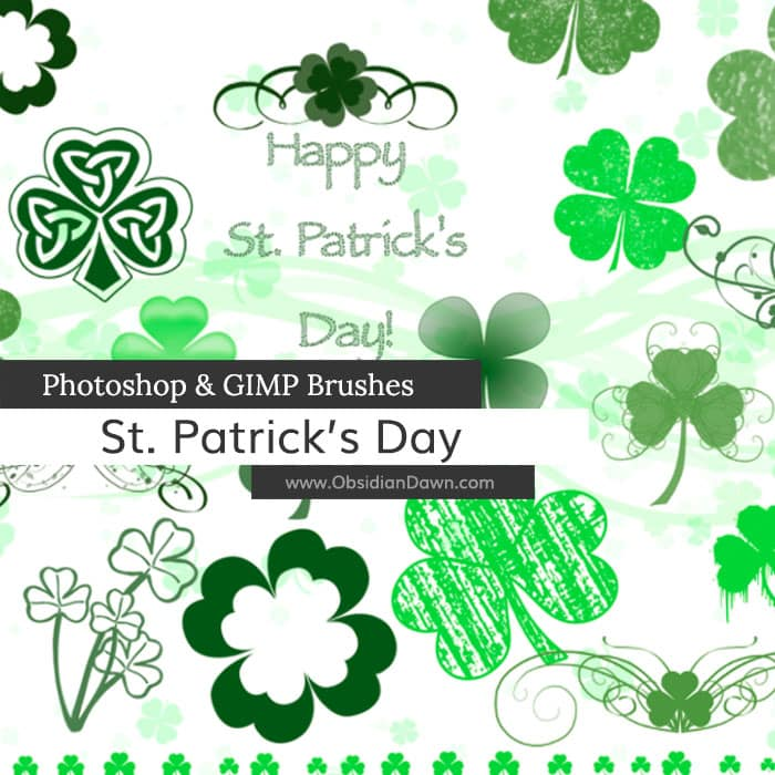 St. Patrick's Day Brushes free photoshop brushes