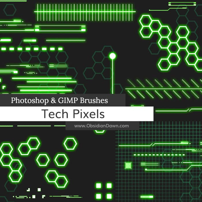 Tech Pixels free photoshop brushes