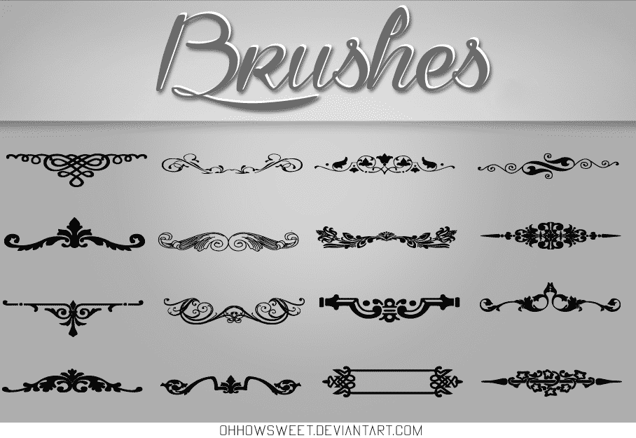 Vintage Brushes free photoshop brushes