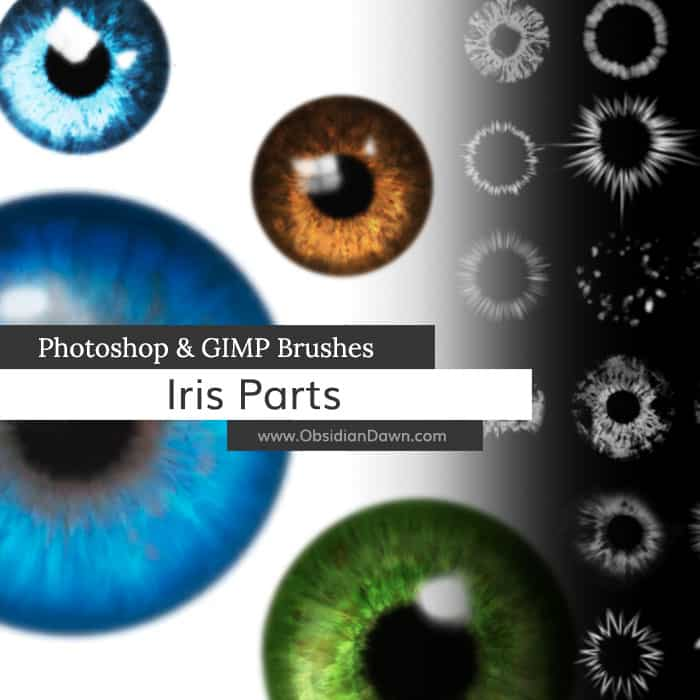 iris parts free photoshop brushes