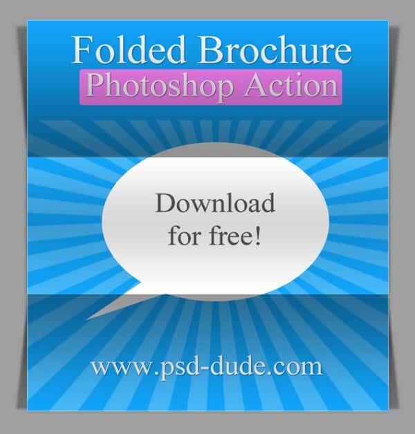 Folded Brochure Photoshop Action