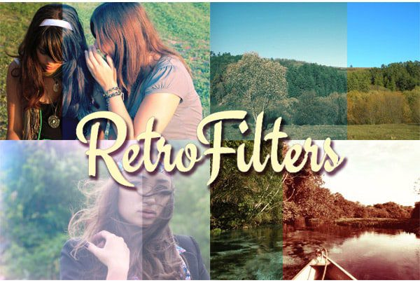 Retro filters photoshop action