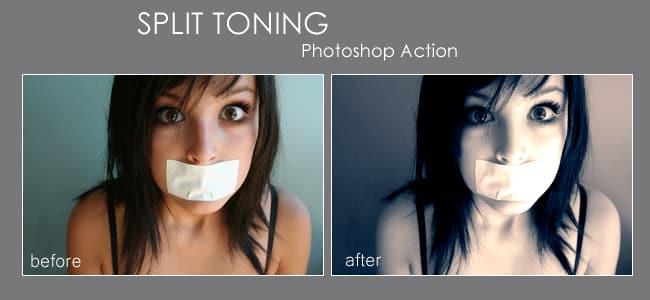 Split toning photoshop action