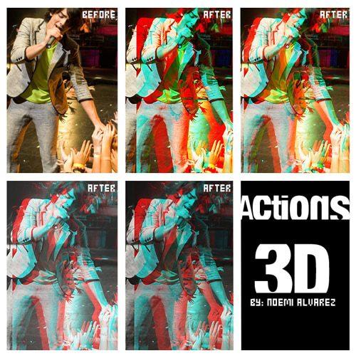 action 3d photoshop action