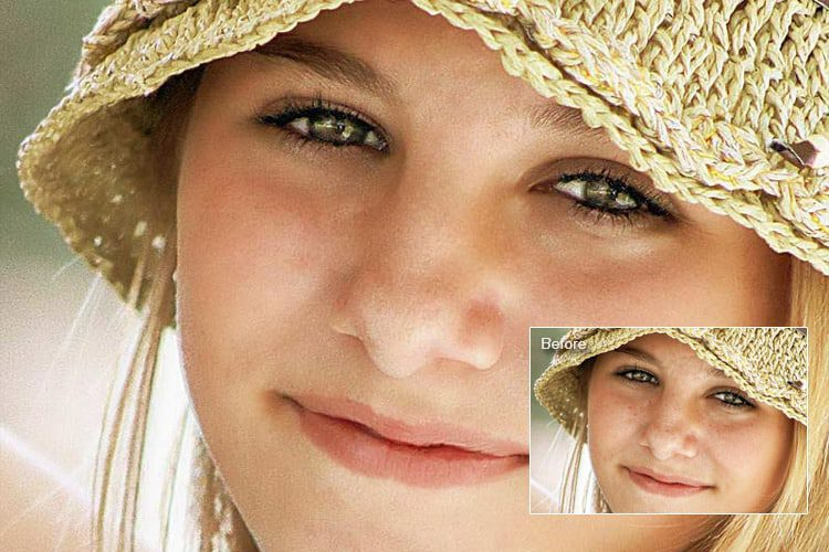 softening skin photoshop action
