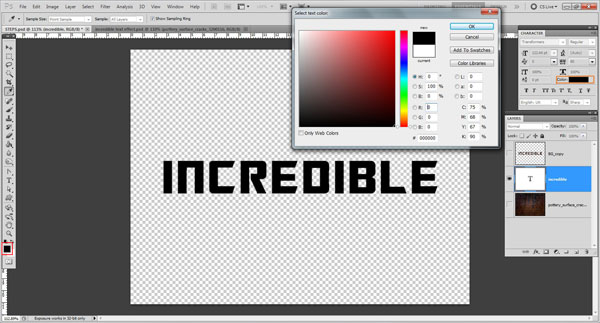 add color to text Incredible 3D Text Effect