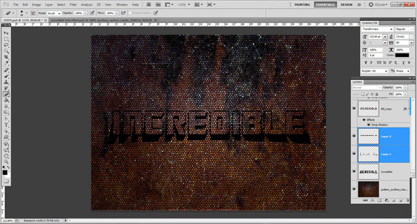 brush paint Incredible 3D Text Effect