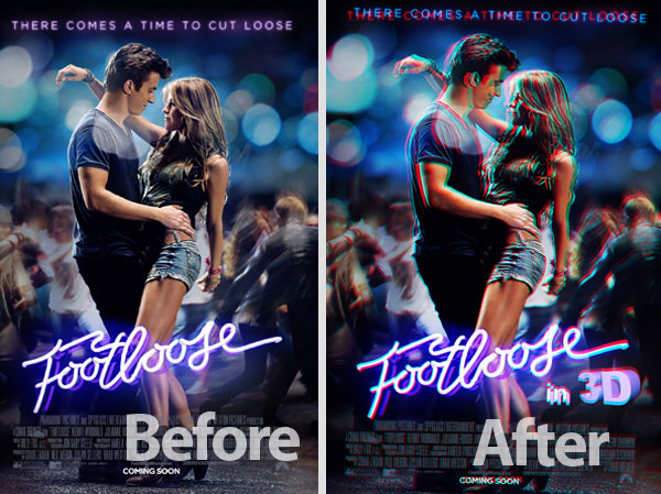 footloose final result How To Create A 3D Movie Poster In Photoshop