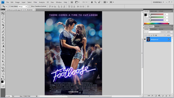 step 1 open file small How To Create A 3D Movie Poster In Photoshop