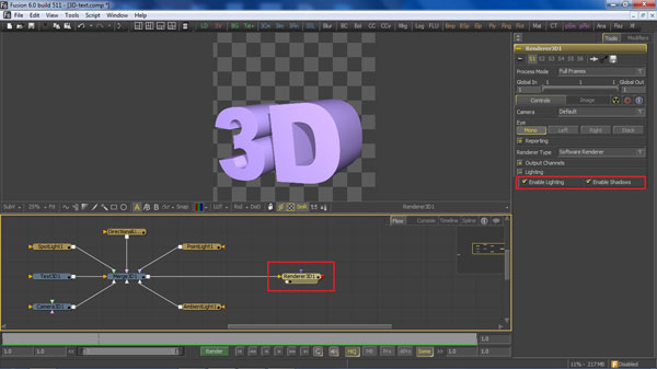step 10 Renderer 3D small How To Create A 3D Movie Poster In Photoshop