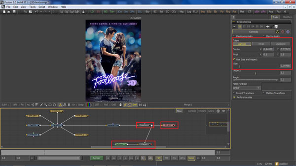 step 11 transform saver small How To Create A 3D Movie Poster In Photoshop
