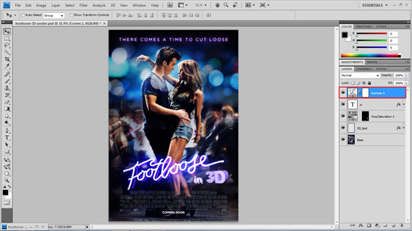 step 16 change contrast small How To Create A 3D Movie Poster In Photoshop