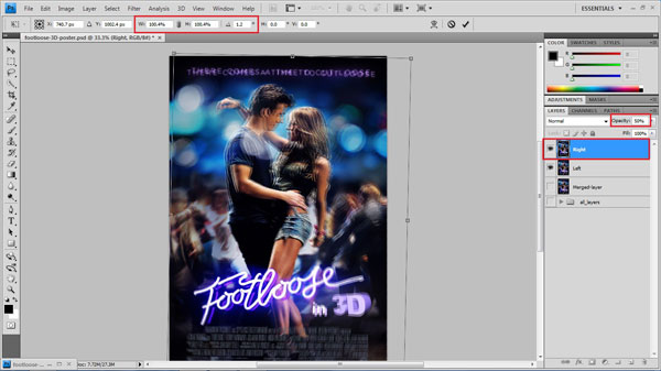 step 18 transform small How To Create A 3D Movie Poster In Photoshop