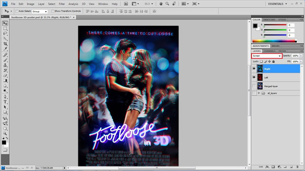 step 21 screen mode small How To Create A 3D Movie Poster In Photoshop