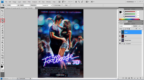 step 22 crop small How To Create A 3D Movie Poster In Photoshop