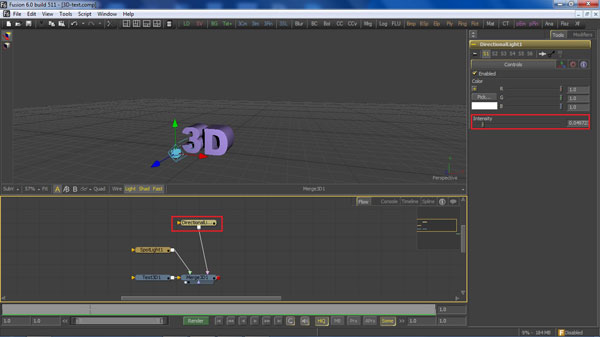 step 6 direction light small How To Create A 3D Movie Poster In Photoshop